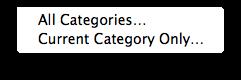 Categories to Export